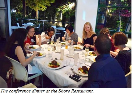 The conference dinner at the Shore Restaurant.
